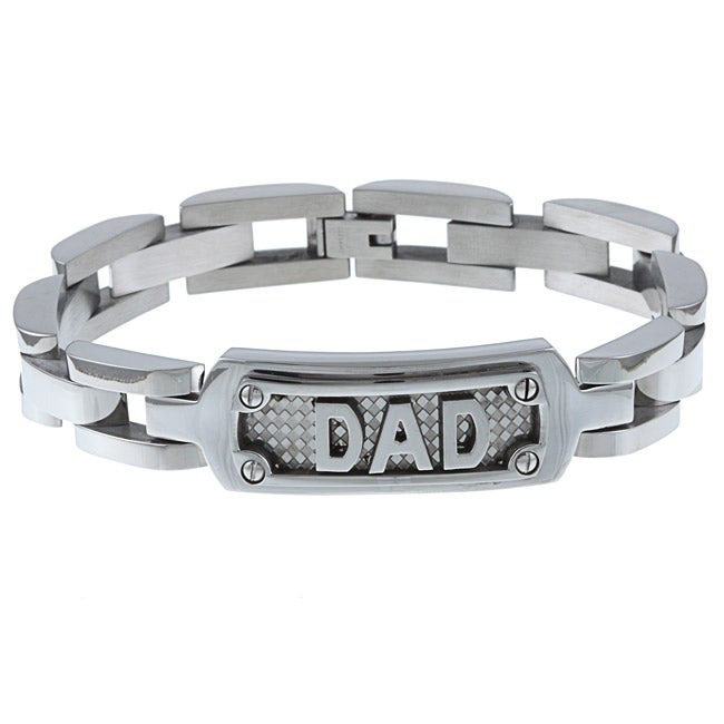 Stainless Steel Men S Dad Bracelet On Free Shipping Orders Over 45 5700424