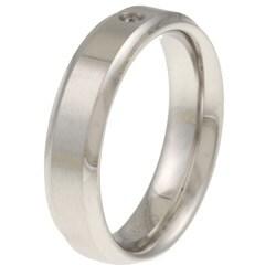 Cobalt Diamond Accent Band Ring