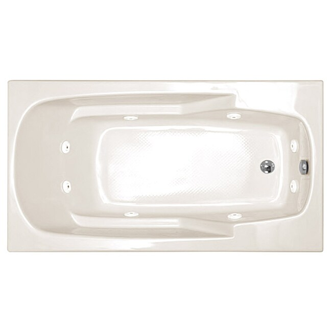 Atlantis eros white whirlpool tub free shipping today for Most comfortable tub reviews