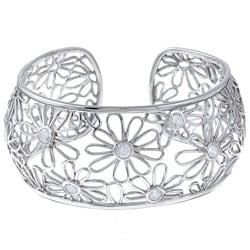 La Preciosa Sterling Silver Cubic Zirconia Daisy Bracelet