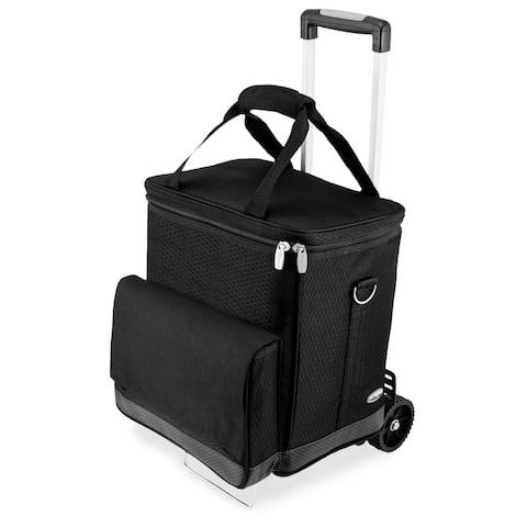 Picnic Time 6-bottle Insulated Cellar with Trolley