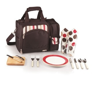 Picnic Time Malibu Moka Insulated Shoulder Pack Picnic Basket