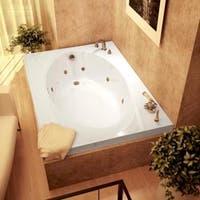 Shop Petite White 60x36 In Whirlpool Tub Free Shipping