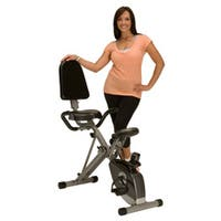 Exerpeutic Space-Saver Semi-Recumbent Bike with Pulse - Black