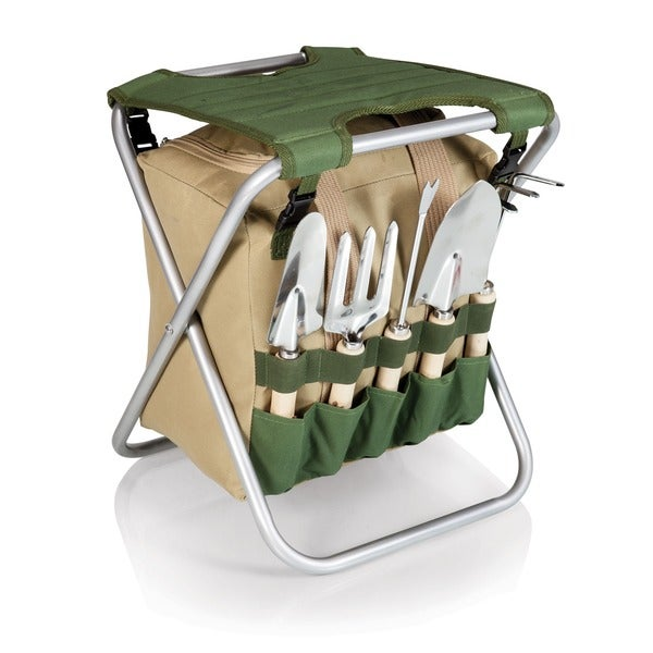Gardener Gardening Tools Folding Seat with Tote