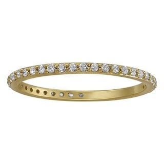 Beverly Hills Charm 14k Yellow Gold 1/3ct TDW Diamond Eternity Stackable Wedding Band