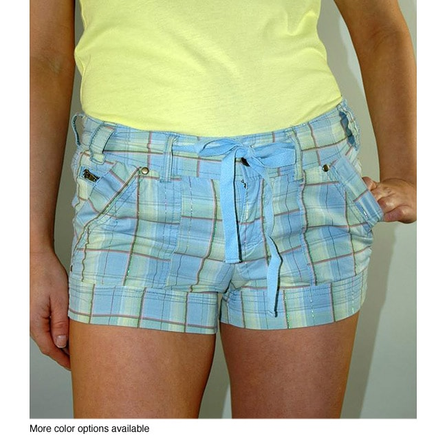 Institute Liberal Women's Plaid Cotton Shorts
