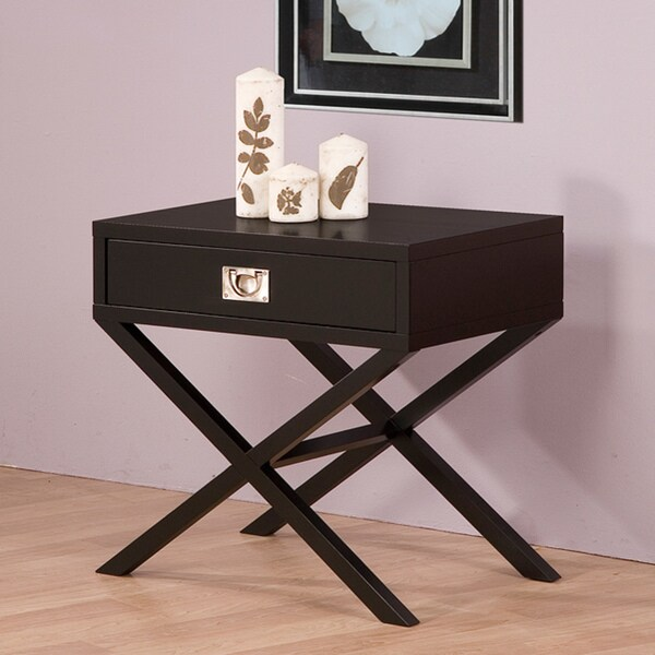 Napa Black 1-drawer Bedside Table - Free Shipping Today - Overstock.com -  13441089