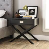 Clay Alder Home Napa Black 1-drawer Bedside Table