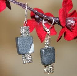 Silverplated 'Yukon Territory' Blackstone Earrings