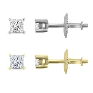 Montebello 14k Gold 1/4ct TDW Diamond Stud Earrings (I-J, VS2-I1)