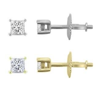 Montebello 14k Gold 1/4ct TDW Diamond Stud Earrings