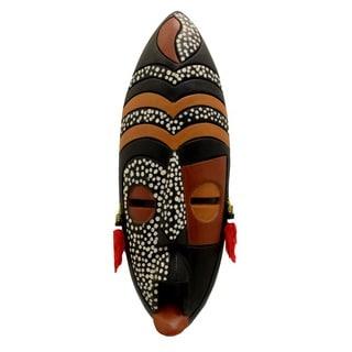 Handmade Wood Large Gye Nyame Safari Mask (Ghana)