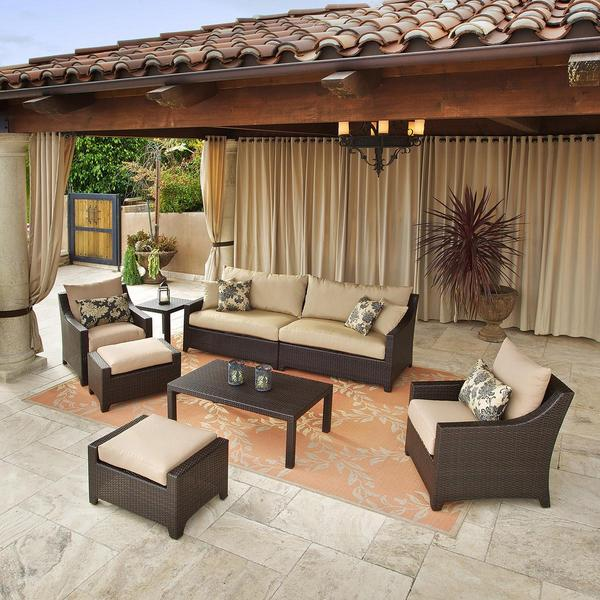 RST Delano 7piece Outdoor Sofa Seating Set Free Shipping Today