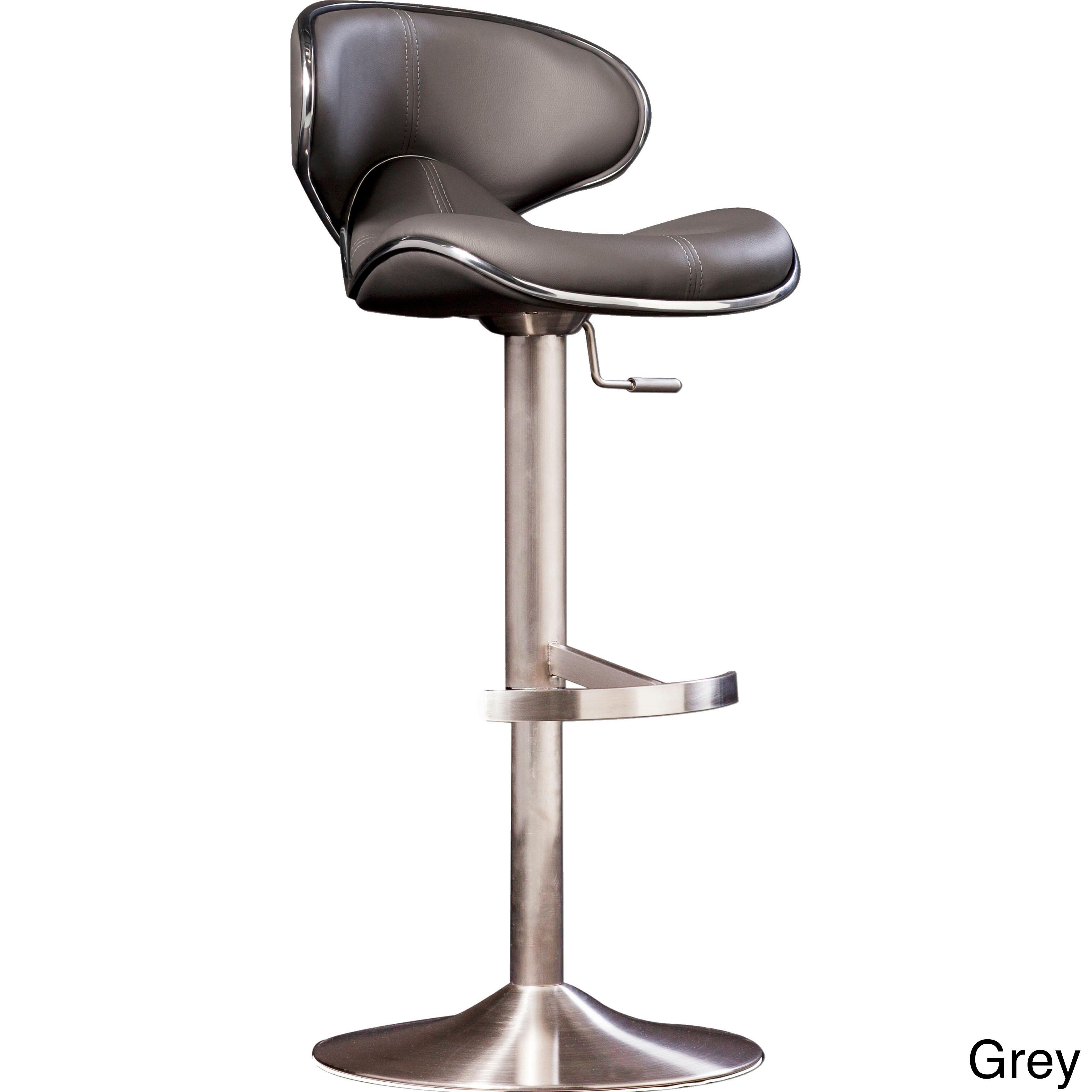 adjustable height swivel bar stool. MIX-Brushed-Stainless-Steel-Adjustable-Height-Swivel-Bar- Adjustable Height Swivel Bar Stool