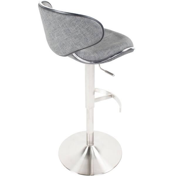 Sensational Shop Mix Brushed Stainless Steel Adjustable Height Swivel Forskolin Free Trial Chair Design Images Forskolin Free Trialorg