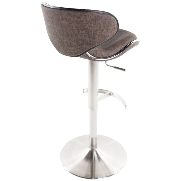Swell Shop Mix Brushed Stainless Steel Adjustable Height Swivel Gmtry Best Dining Table And Chair Ideas Images Gmtryco