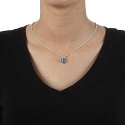 Pewter Birthstone Baby Footprint Necklace