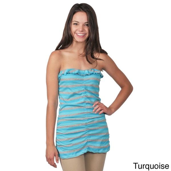 Ci Sono by Journee Juniors Striped Sleeveless Tube Top