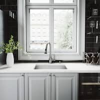VIGO Ludlow Stainless Steel Kitchen Sink and Aylesbury Faucet Set