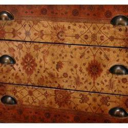 Handmade Wood Olde-Worlde Euro 3-drawer Console Chest (China) - Thumbnail 1