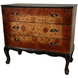 Wood Olde-Worlde Euro 3-drawer Console Chest (China)