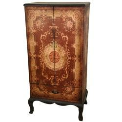 Handmade Wood Olde-Worlde European 2-door Cabinet (China)|https://ak1.ostkcdn.com/images/products/5704212/73/964/Wood-Olde-Worlde-European-2-door-Cabinet-China-P13443690.jpg?impolicy=medium