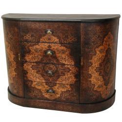 Handmade Wood Olde-Worlde European 4-drawer Credenza (China)