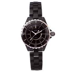 Ceramic Couture Women's Black Ceramic Designer Watch