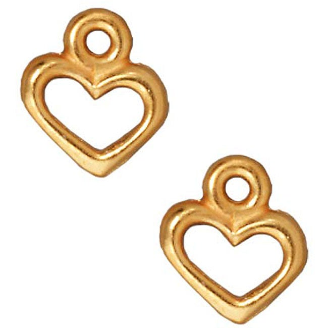 Beadaholique Goldplated Pewter Open Heart Charms (Set of 2)