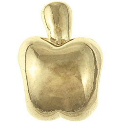 Sterling Essentials Gold over Silver Apple Bead