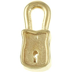 Sterling Essentials Gold over Silver Padlock Bead