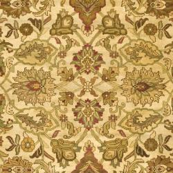 Indo Hand-knotted Jaipur Treasures Ivory/ Black Wool Heirloom Rug (8' x 11')