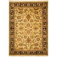 Handmade Safavieh Couture Jaipur Ivory/ Black Heirloom Wool Area Rug - 8' x 11' (India)