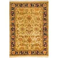 Safavieh Couture Jaipur Hand-Knotted Beige/ Black Heirloom Wool Area Rug - 8' x 11'