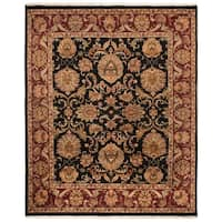 Safavieh Couture Jaipur Hand-Knotted Black/ Burgundy Heirloom Wool Area Rug (8' x 10')
