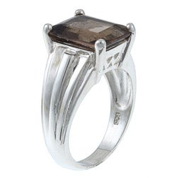 Gems For You Sterling Silver Smoky Quartz Ring - Thumbnail 1