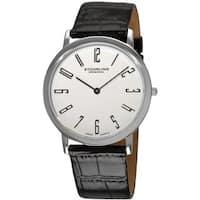 Stuhrling Original Men's White 'Belmont' Ultra Slim Watch - black