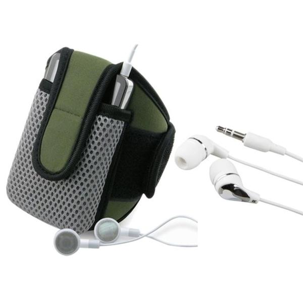 INSTEN Olive Sportband with Case Cover/ 3.5mm Headset for Apple iPhone 3G/ 3GS