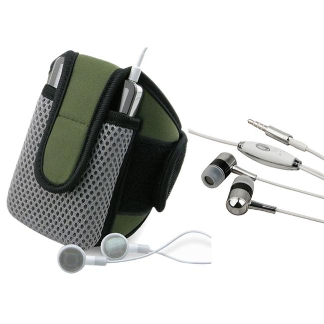 INSTEN Olive Sportband with Phone Case Cover/ 3.5mm Headset for HTC Google Nexus One