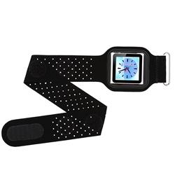 Black Suede Armband/ Screen Protector for Apple iPod Nano 6th Gen