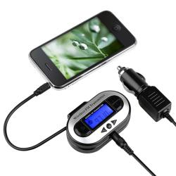 INSTEN Universal FM Transmitter with USB Port for Apple iPhone 4S/ 5S/ 6