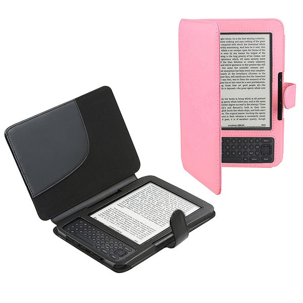 Leather Case for Amazon Kindle 3