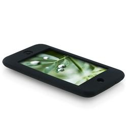 INSTEN Black Soft Silicone Skin iPod Case Cover for Apple iPod Touch 1st/ 2nd/ 3rd Gen