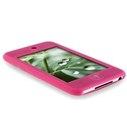 INSTEN Hot Pink Silicone Skin Case Cover for Apple iPod Touch 1st/ 2nd/ 3rd Gen