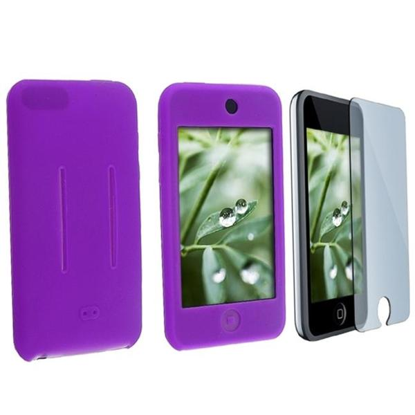 INSTEN Purple Skin iPod Case Cover/ LCD Protector for Apple iPod Touch Gen 1st/ 2nd/ 3rd