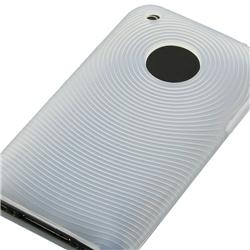 White Textured Skin Case/ Screen Protector for Apple iPhone 3G/ 3GS - Thumbnail 1