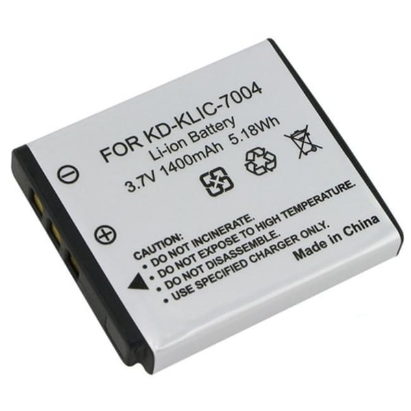 INSTEN Compatible Li-ion Battery for Kodak KLIC-7004/ Fuji NP-50 (Pack of 2)