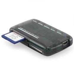 INSTEN Smoke Mini All-in-1 USB 2.0 Memory Card Reader