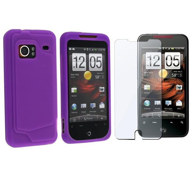 Purple Skin Case/ Screen Protector for HTC Droid Incredible Verizon